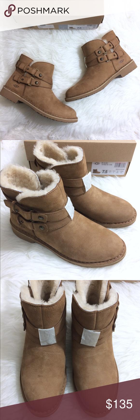 436d4e740fb UGG Aliso 7.5 Chestnut Tan Ugg Short Boots New Ugg Australia Aliso ...