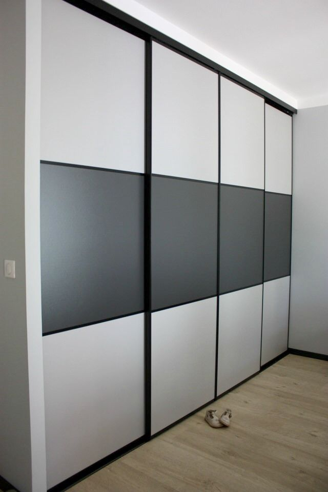 Portes de placard coulissantes kraft 250 x 120 - CASTORAMA chambre