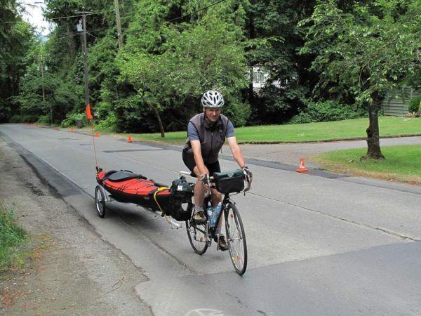 Kayak Bicycle Trailers By Tony S Trailers Kajak Kanu Pedelec