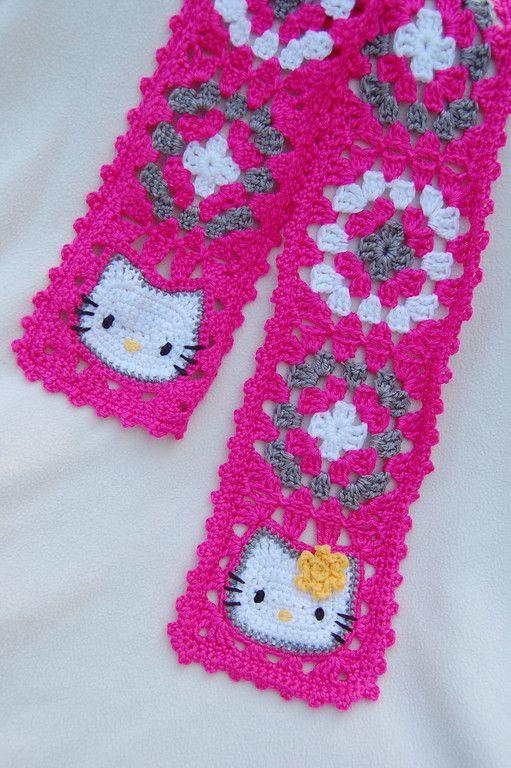 Hello Kitty Scarf for Lyla Knitting and Crocheting Pinterest Hello kitt...