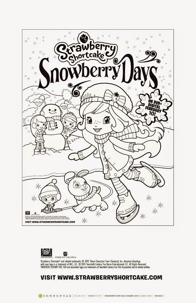 Strawberry Shortcake: Snowberry Days Free Printable Coloring Page ...