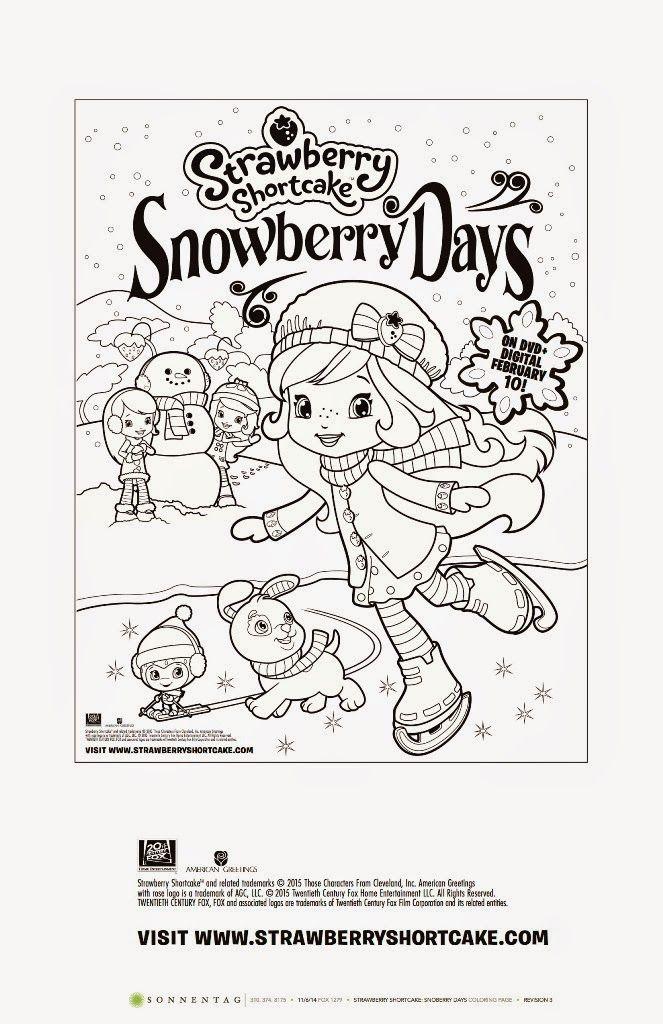 Dvd Giveaway Strawberry Shortcake Snowberry Days Snowberrydays Strawberry Shortcake Coloring Pages Free Printable Coloring Pages Coloring Pages