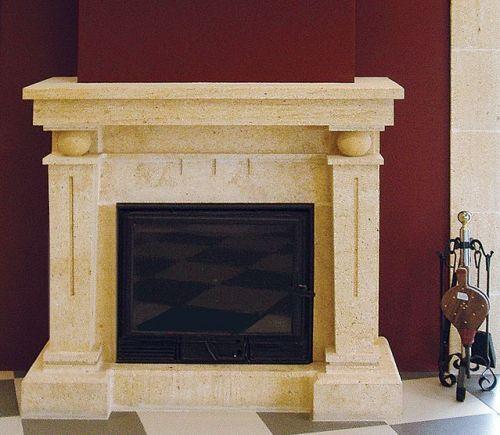 chimenea de piedra tosca para la decoracin en salones y bodegas