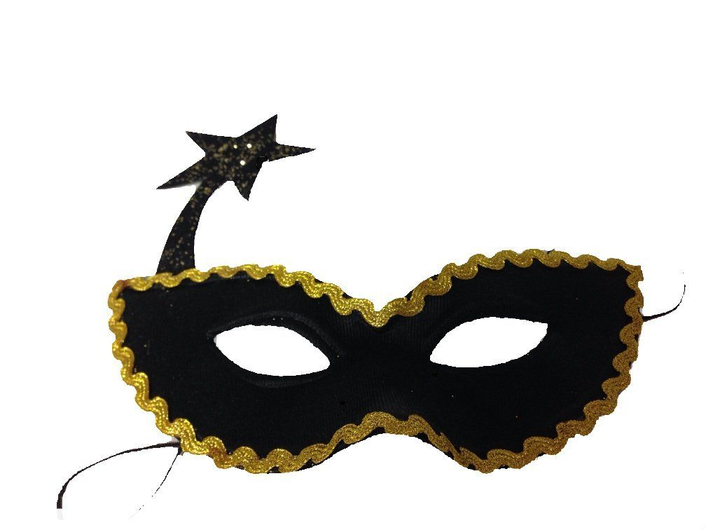 Carnival Mask Costume Halloween Christmas Masquerade Party Witch Hat Cap Stars