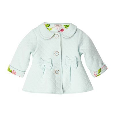 15d5b2485b34c LOVE BAKER FOR KIDS!!! Baker by Ted Baker Babies light green quilted sweat  jacket- at Debenhams.com