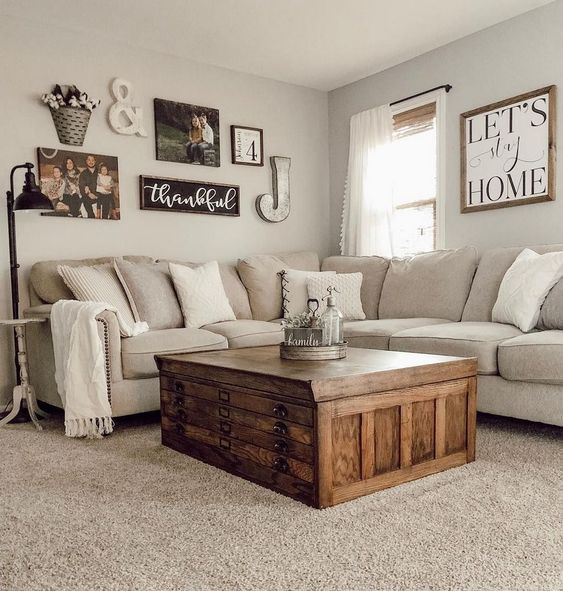 31 Cozy Apartment Living Room Decorating Ideas Page 9 Of 31 Creative Vision Design Farm House Living Room Farmhouse Decor Living Room Rustic Living Room