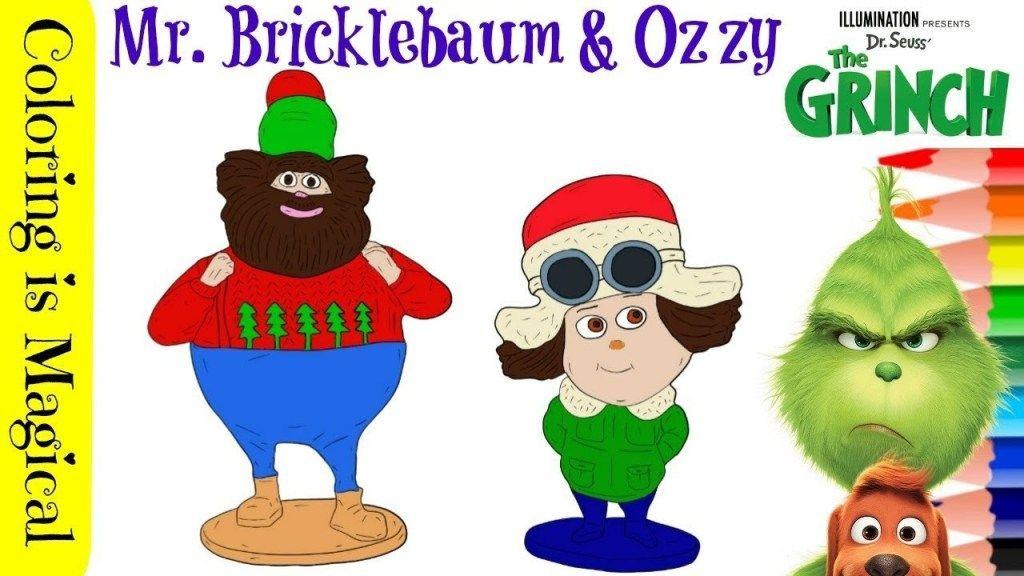 Mr Bricklebaum Ozzy From The Grinch Movie The Grinch Movie Grinch Coloring Pages Grinch