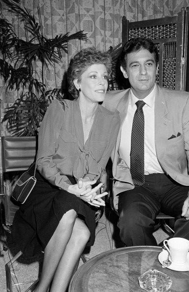 Carol Burnett and Placido Domingo