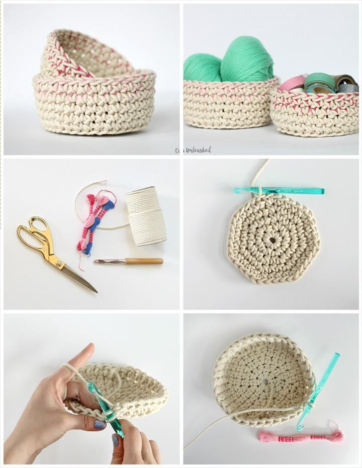 10 Free Crochet Basket Patterns for Beginners | Cestas, Cesta tejida ...