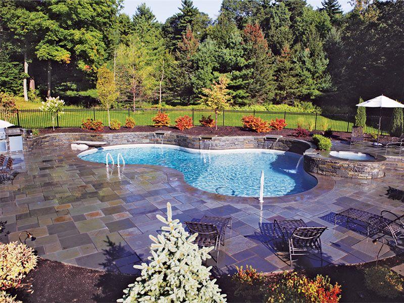 Pacific Pools Vinyl Liner Swimming Pools Inground Swimming Pool House Rectangle Swimming Pools Pool Patio