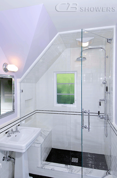 Shower Doors For Sloped Ceilings Frameless Showers With Images