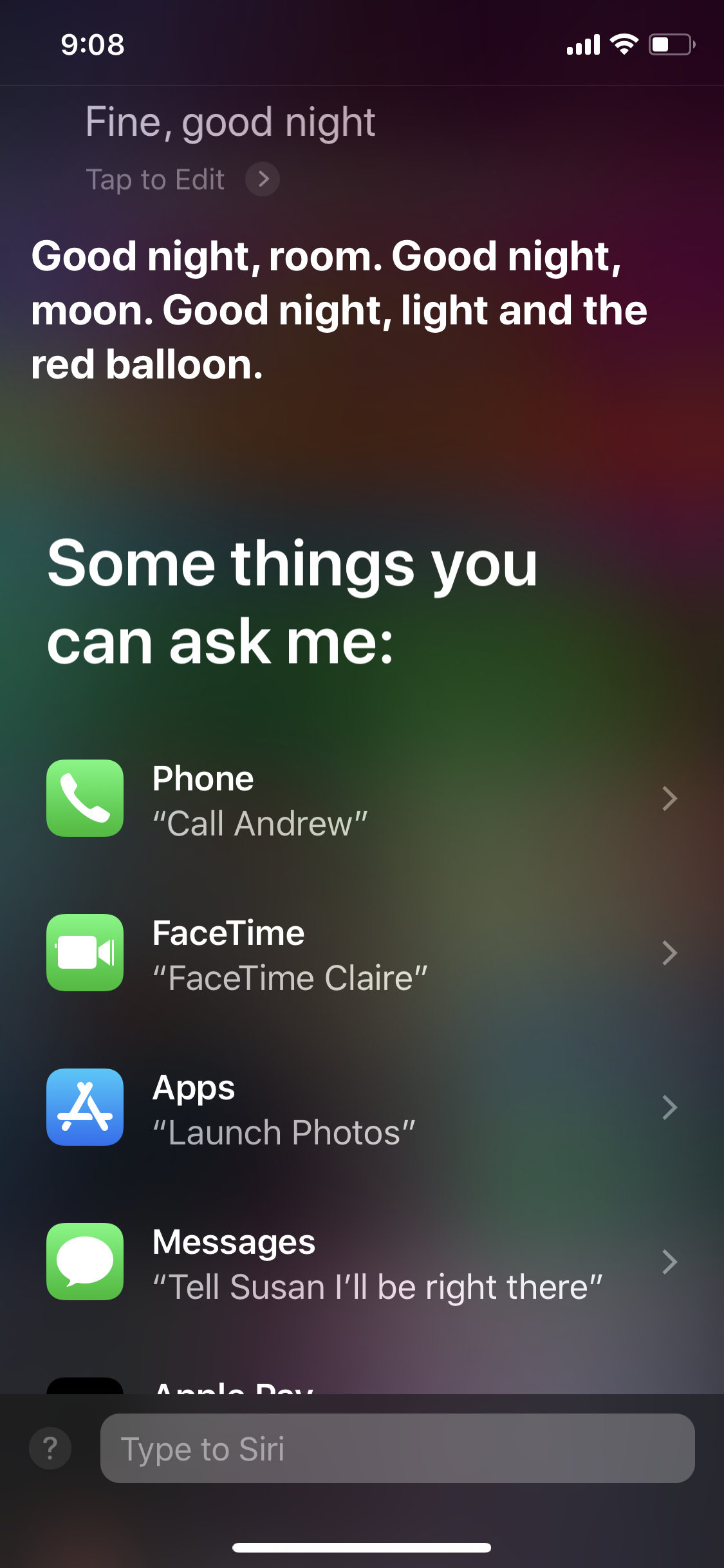 How Do I Get Siri To Say What I Type