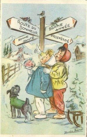 5 Janvier ... - L'accroche coeur | Cartes anciennes ...