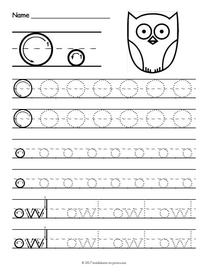 Free Printable Tracing Letter O Worksheet | Tracing ...