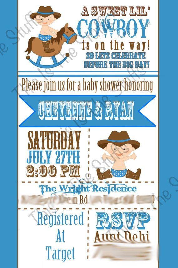 Cowboy or Little Buckaroo Baby Shower Invitation | Products I Love ...