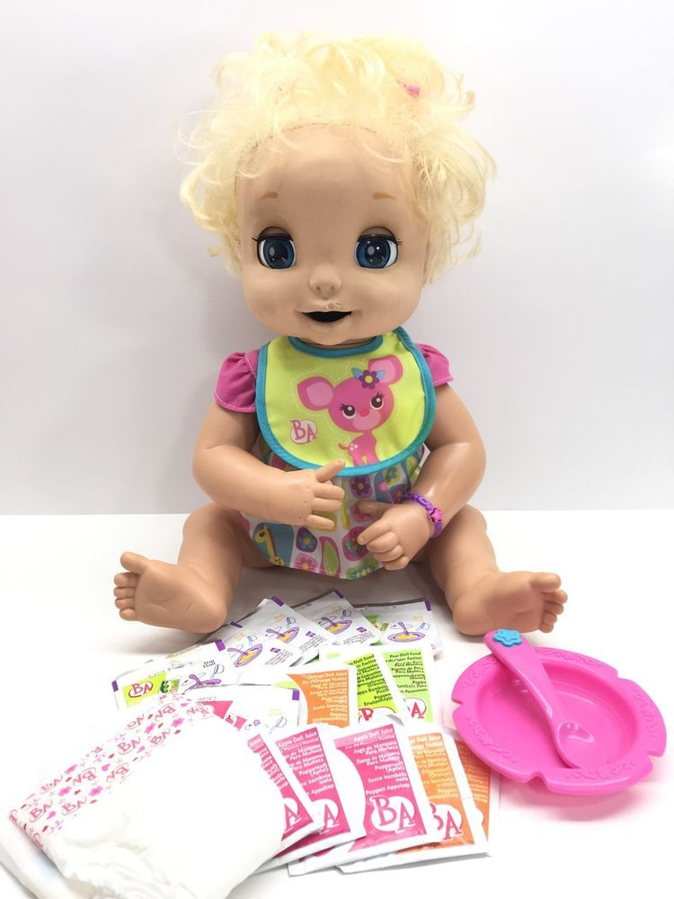 Hasbro Baby Alive Doll Soft Face Interactive Toy Food Bib