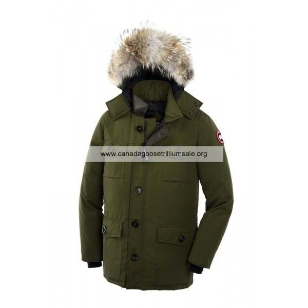 Mens Canada Goose Banff Parka Military green