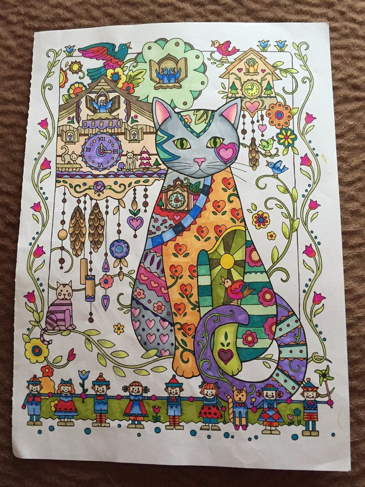 Amazon creative haven creative cats coloring book adult