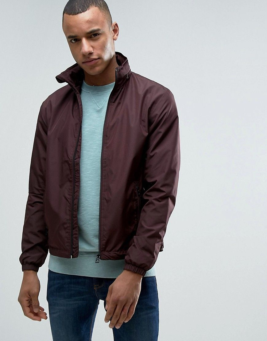Esprit Lightweight Jacket With Concealed Hood Red Casual Outerwear Latest Fashion Clothes Mens Jackets [ 1110 x 870 Pixel ]