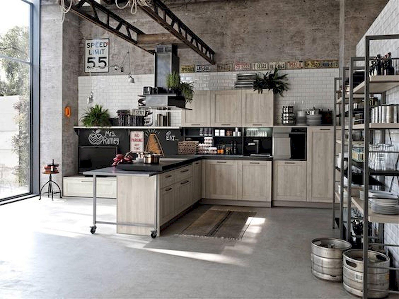 33 Best Industrial Style Kitchen Ideas 1 Industrial Style