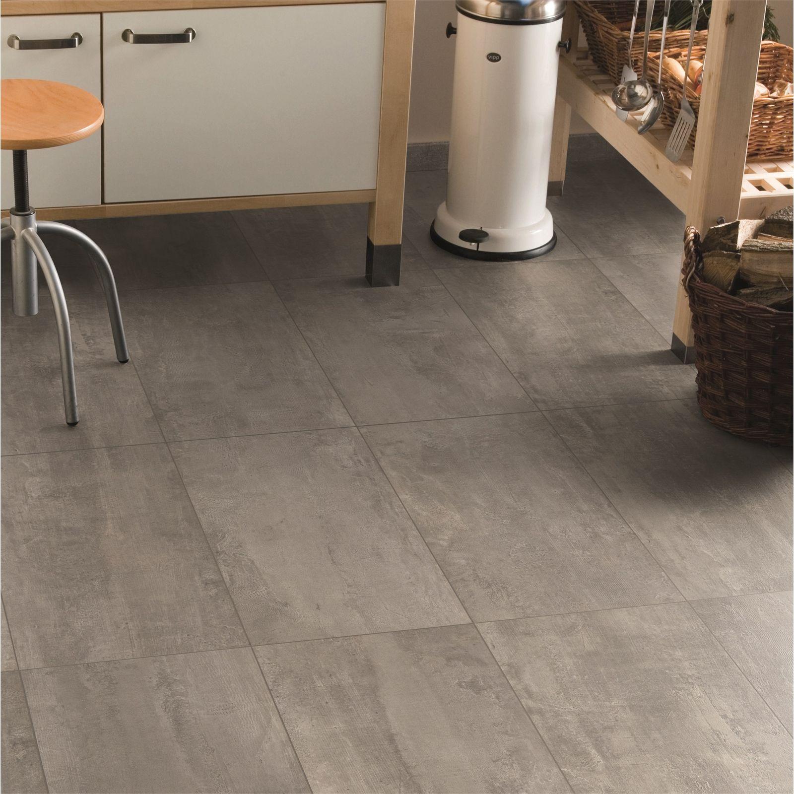 Concrete Tile Effect Laminate Flooring at Homebase.co.uk