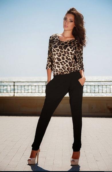 2016速賣通EBAY新款熱賣歐美女裝夏季豹紋露背連衣褲長褲