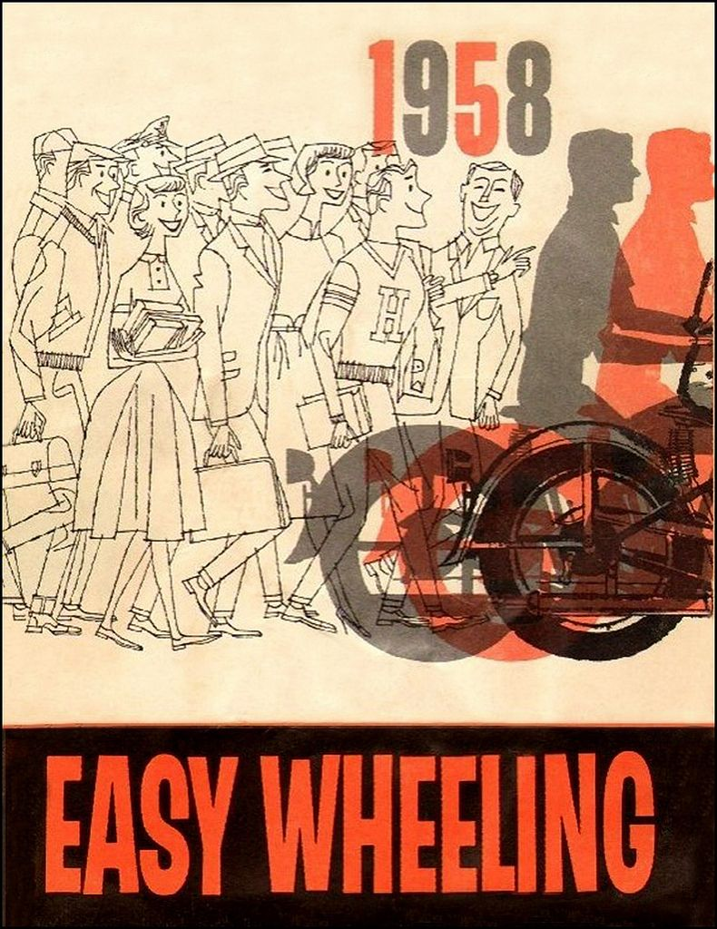 1958 Harley Easy Rider Motorcycle posters, Easy rider