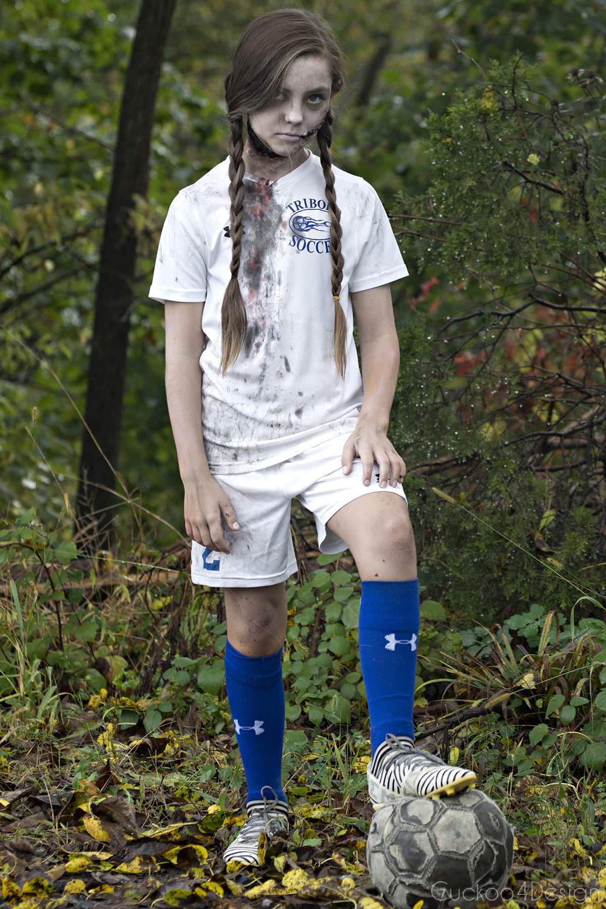 Soccer Zombie Makeup Cuckoo4design Zombie Costume Diy Zombie Halloween Costumes Kids Zombie Makeup