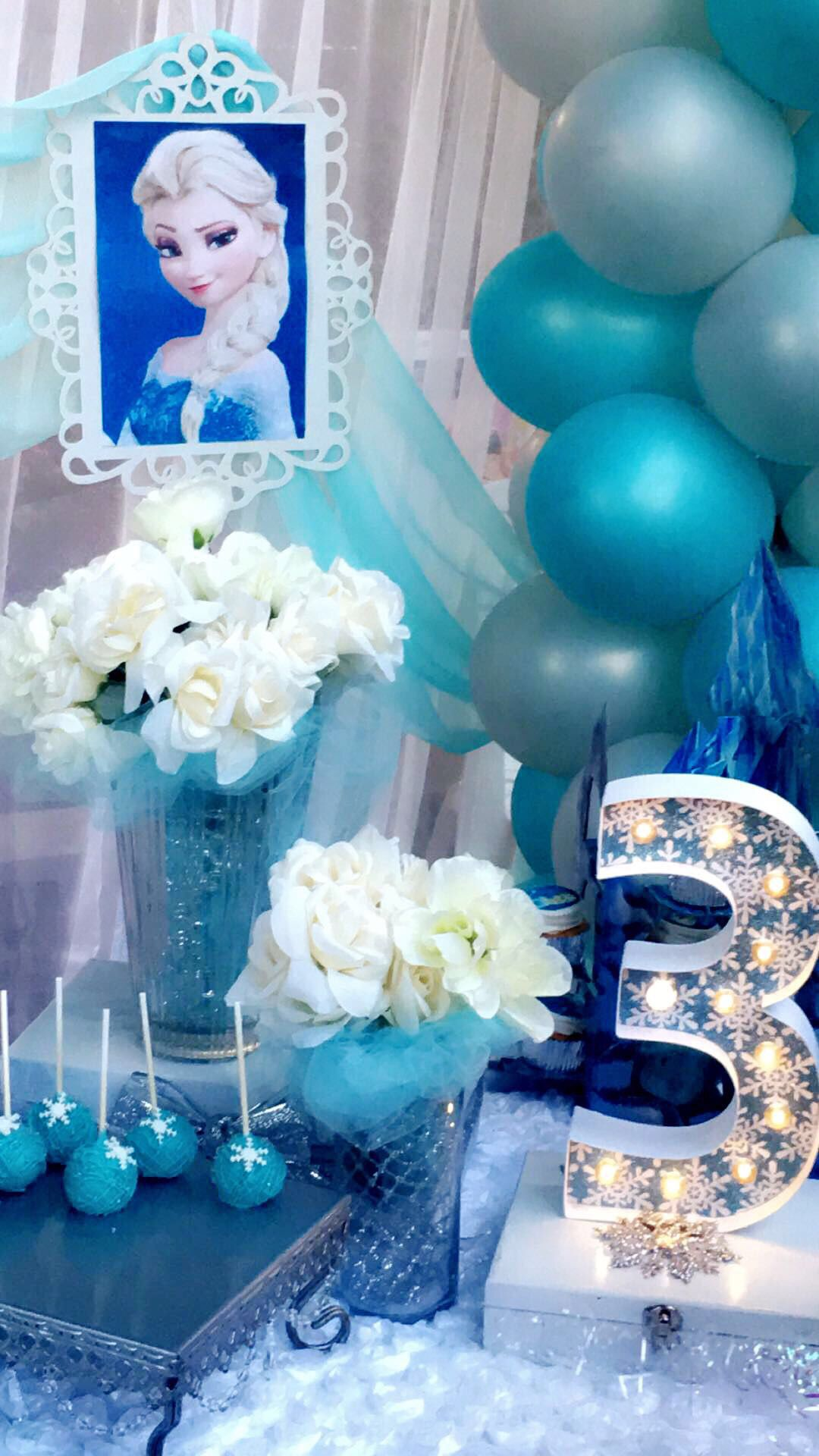 Frozen 3Rd Birthday Party Cake Table Details By Yara Martins
