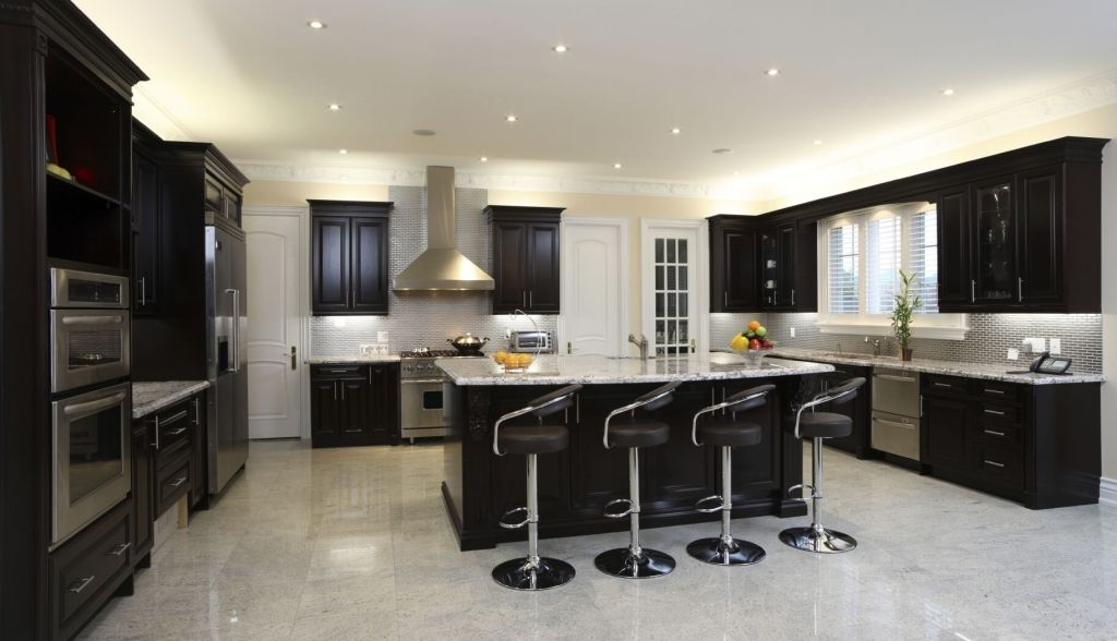 Elegant Modern Kitchen With Black Appliances 52 Dark Kitchens With Dark  Wood And Black Kitchen Cabinets