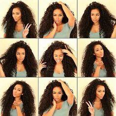 Astuce pousse cheveux frises