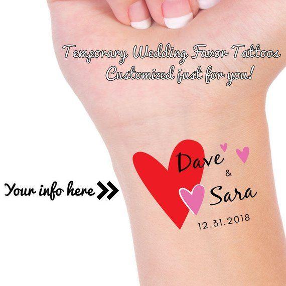 Wedding Favor Tattoos Heart Tattoo Temporary