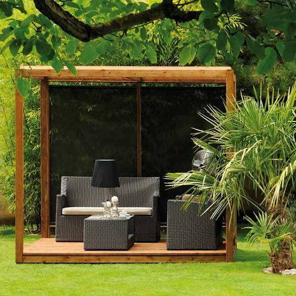 pergola en cube cubik maison facile. Black Bedroom Furniture Sets. Home Design Ideas