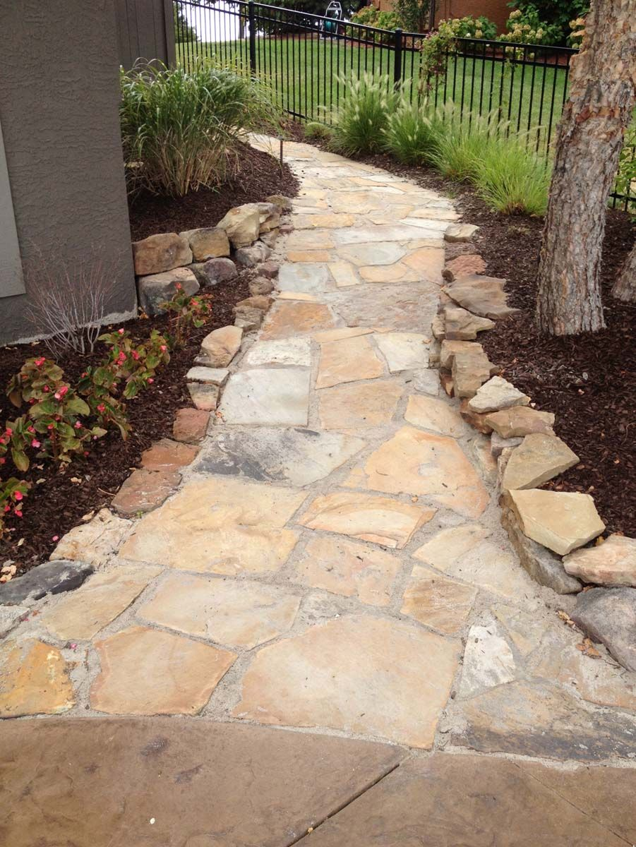 Flagstone walk with polymeric sand. | Outdoor living Ideas ...