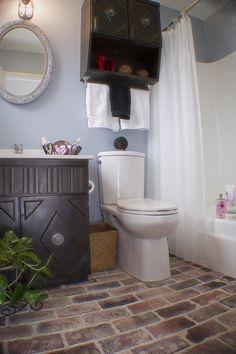 Vintage Brick Bathroom Floor Love It Brick Bathroom