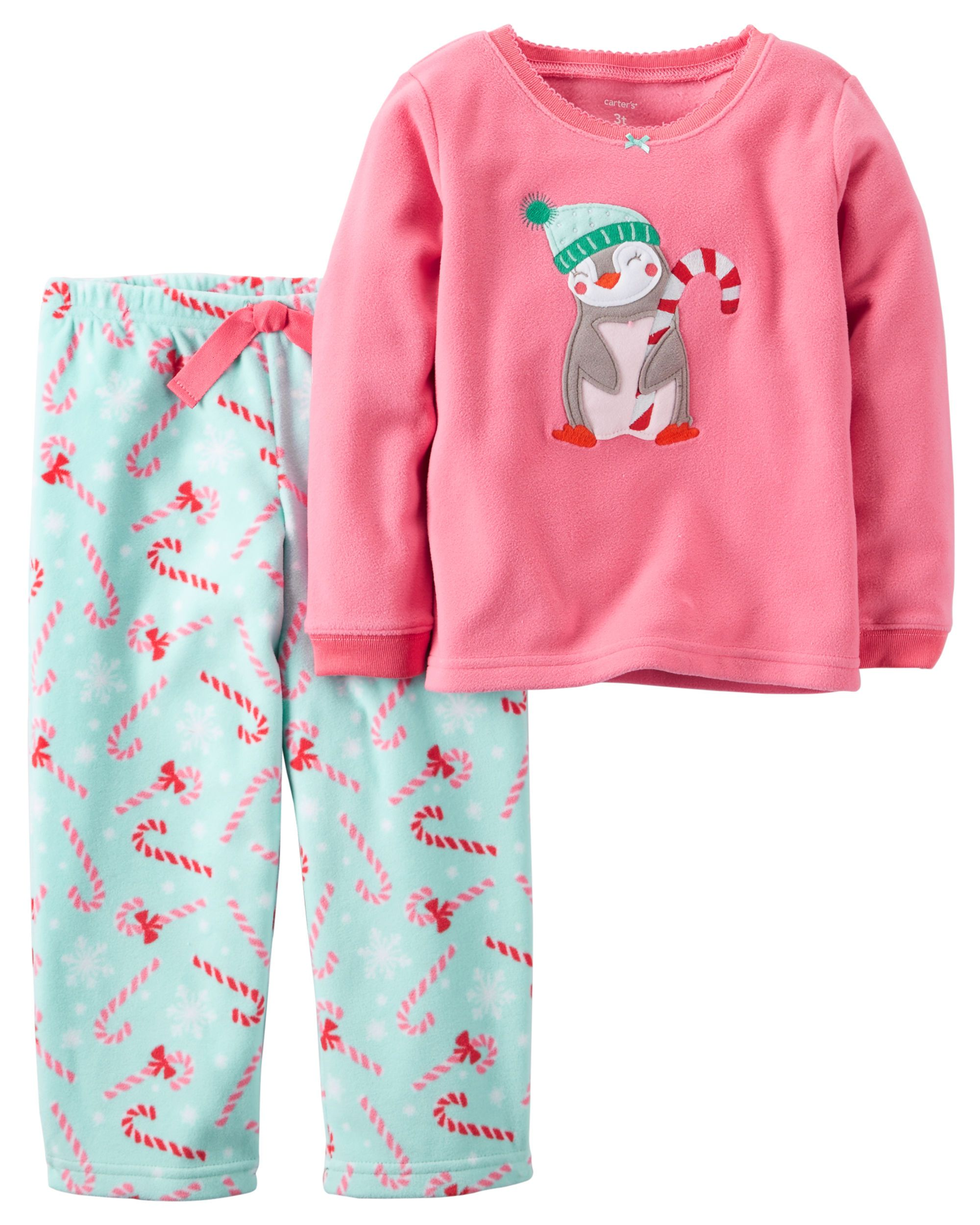 ebace6037056 Toddler Girl 2-Piece Fleece Christmas PJs from Carters.com. Shop ...