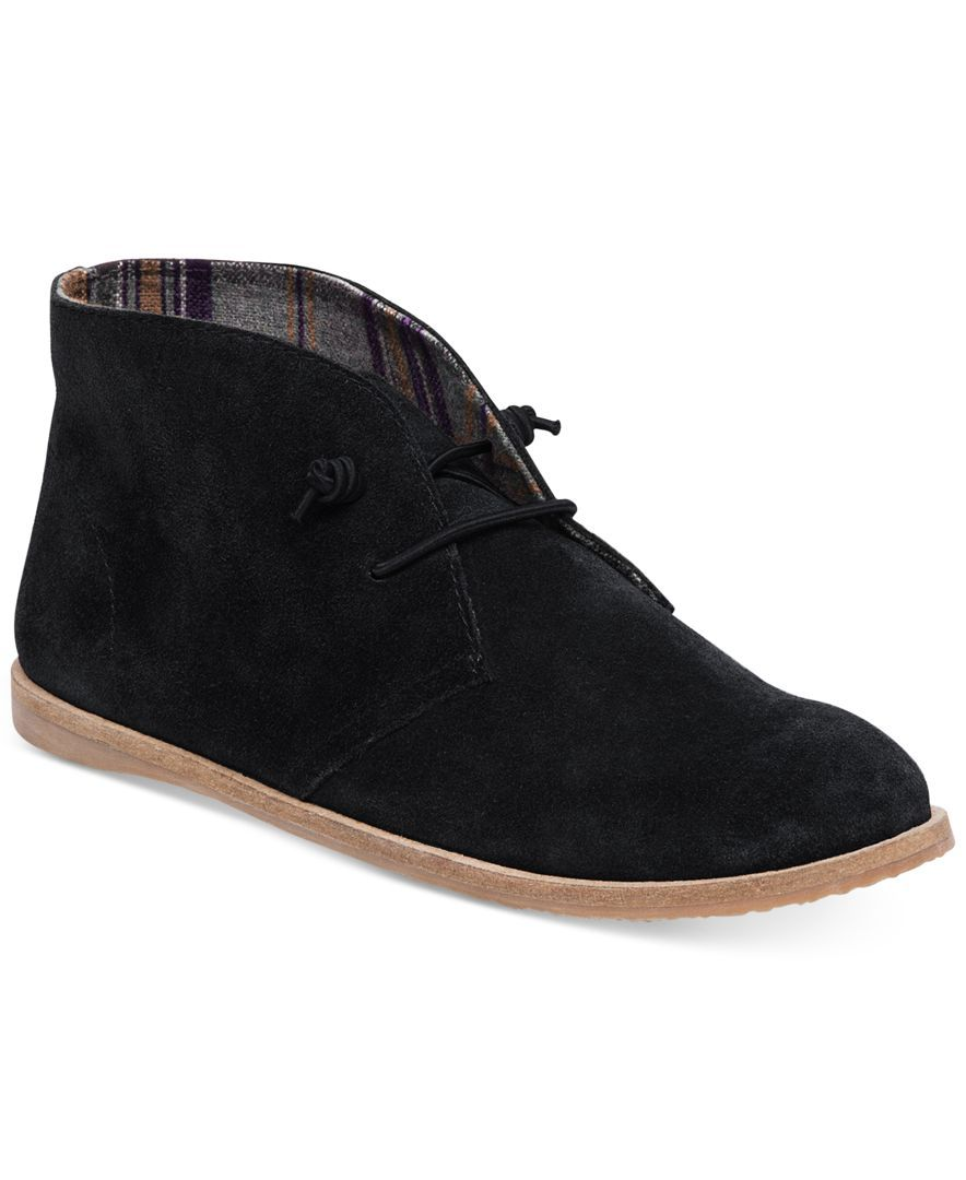 Be stylish in a supremely casual silhouette with the Ashbee booties by Lucky  Brand, featuring a workday-friendly flat sole.