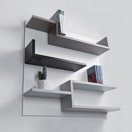 Etagere Murale Design Blanc 100 X 100 Cm Myshelf Bibliotheque