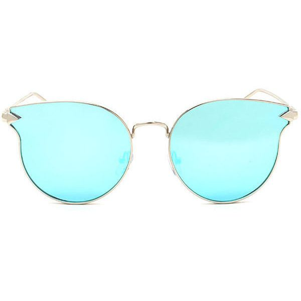 Point The Arrow Round Sunglasses ($8.50) ❤ liked on Polyvore ...