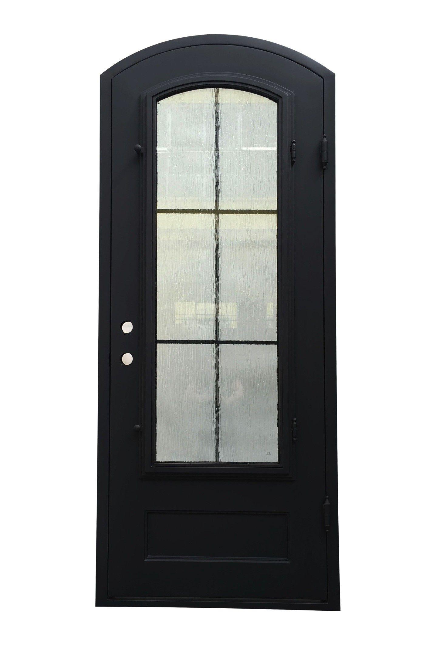 Bergama Iron Door 38 In X 99 In Left Hand Wrought Iron Single