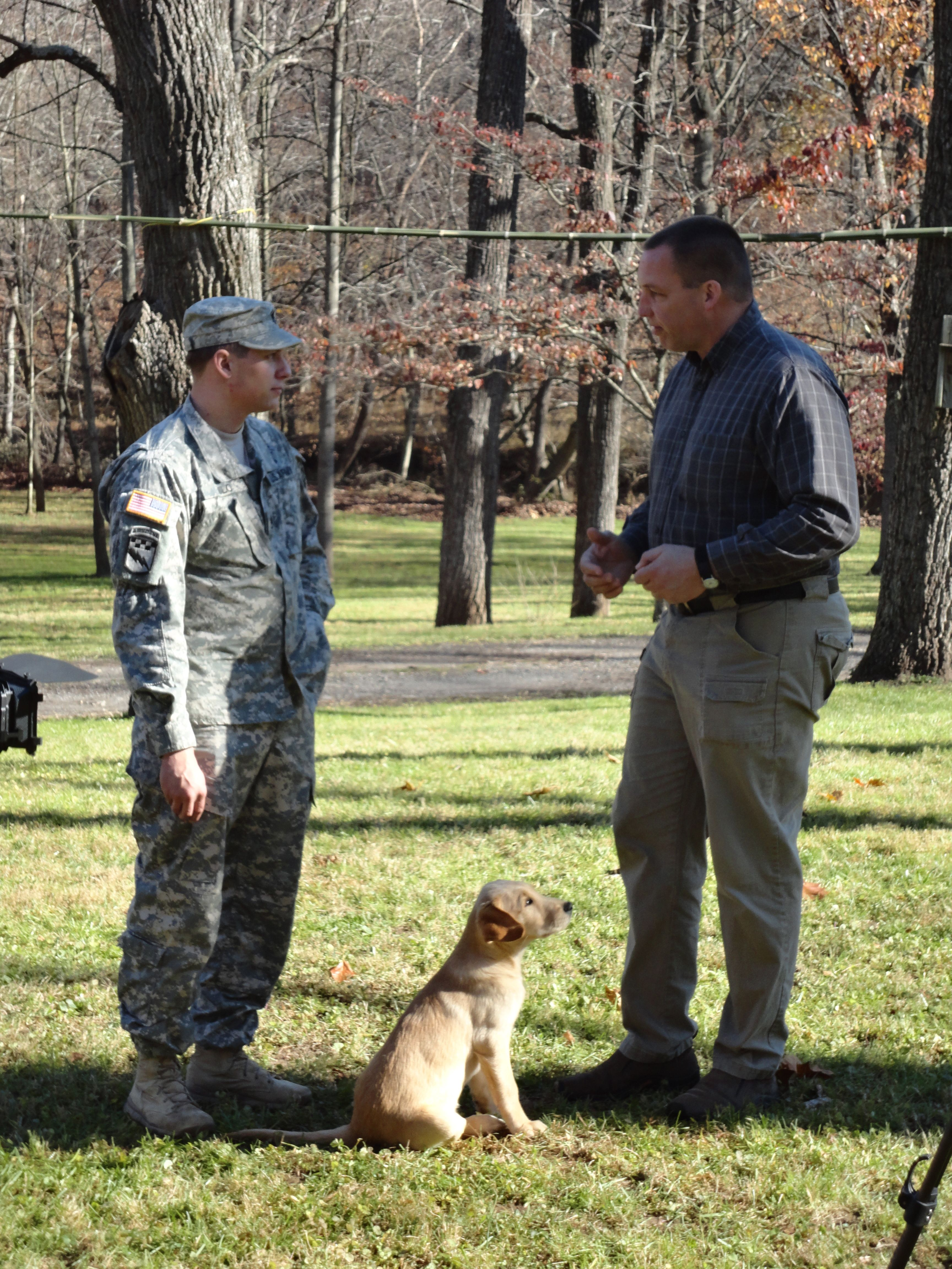 Warrior Canine Connection Founder Rick Yount Training With Ssg