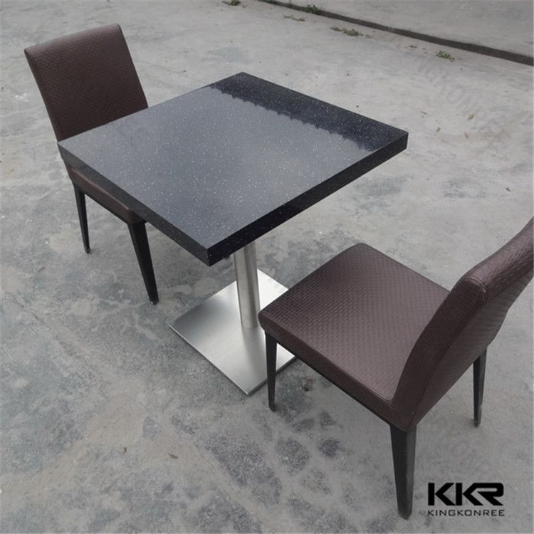 Modern Solid Surface Black Square Restaurant Table Top Wholesale - Wholesale table tops
