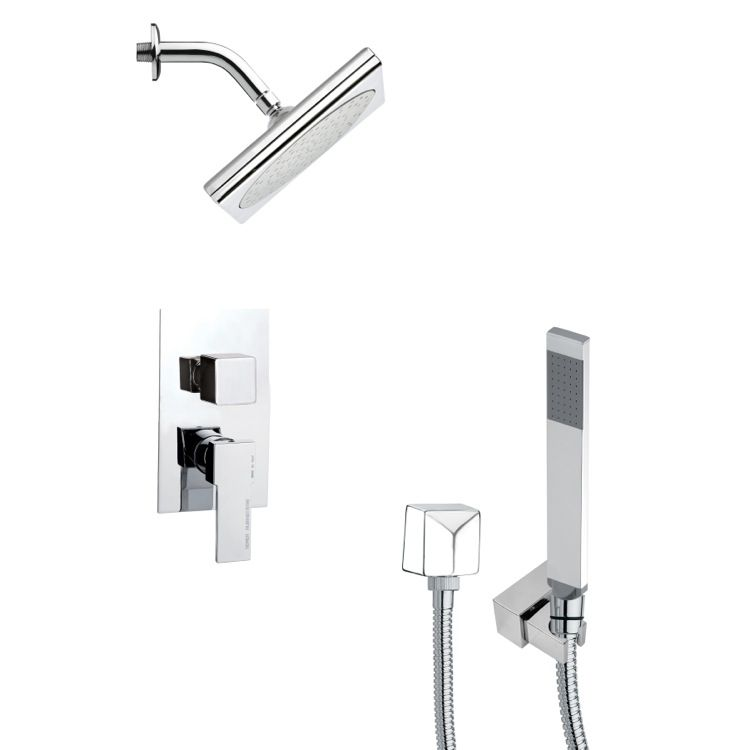 Shower Faucet - Remer Orsino Square Modern Shower Faucet with ...