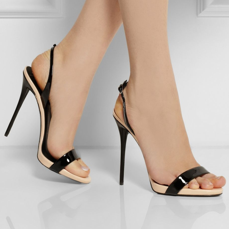 Vind meer vrouwen sandalen informatie over Zwarte Open Teen Naakt ...