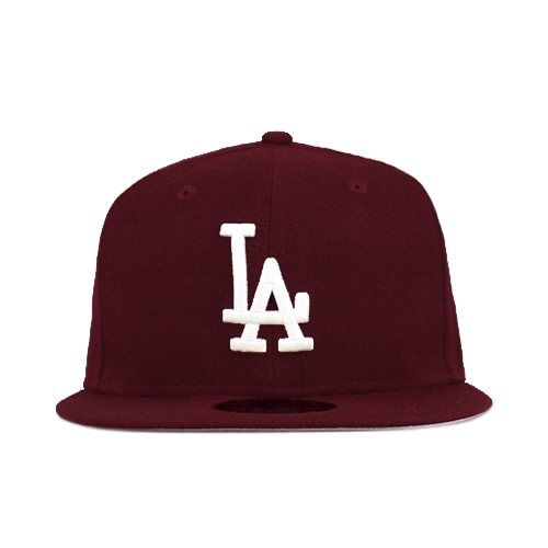 Los Angeles Dodgers Maroon White Gray Under 59fifty 5950 New Era New Era Caps Snapbacks Bucket Hats T Shirts Streetw Fitted Hats La Dodgers New Era Cap
