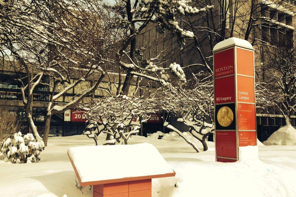 Campus Snow Bu Today Boston University Boston University Boston University Campus Campus