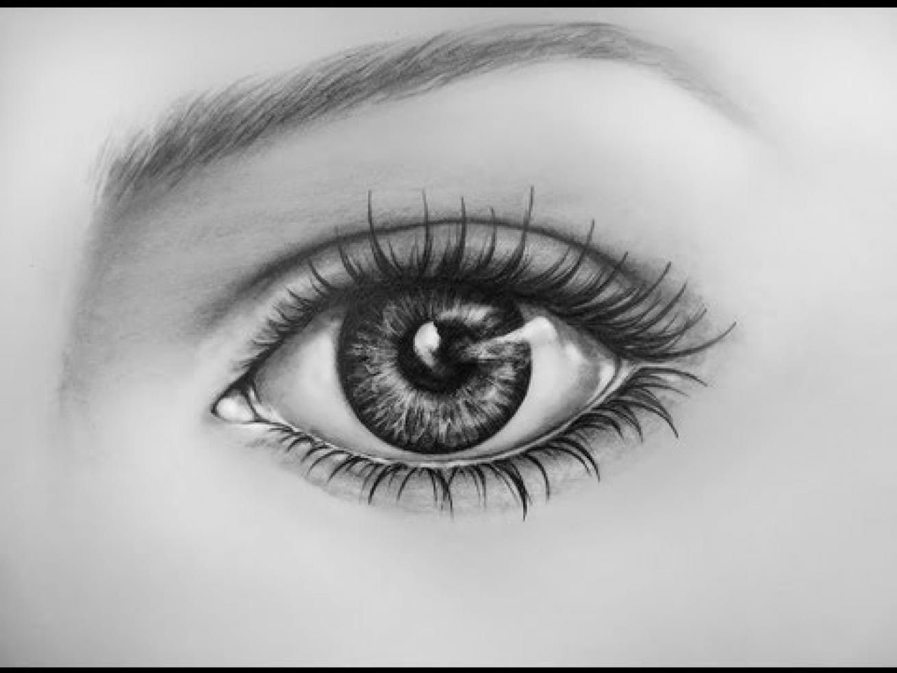 How To Draw An Eye Time Lapse Learn To Draw A Realistic Eye With Pencil Jpg 1310 983 Eye Drawing Realistic Drawings Eye Drawing Simple