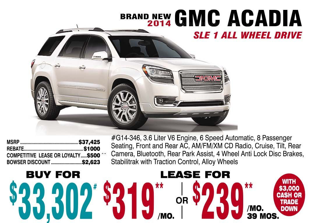 2014 Gmc Acadia Gmc Buick Gmc Buick