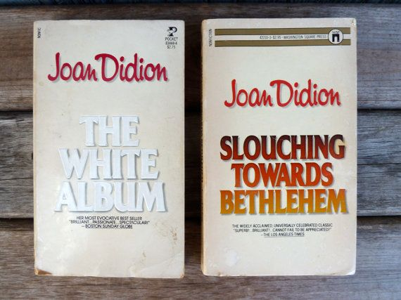 Joan Didion paperbacks The White Album and by OatesGeneral on Etsy