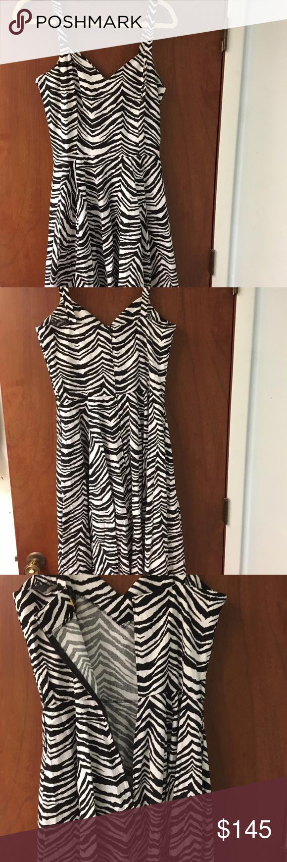 Bernie Dexter Vera Dress In Zebra Print Comes With Black Belt 100 Cotton Long Zipper In Back Hidden Lipstick Pockets Made Dresses Clothes Design Dexter Dress [ 1740 x 580 Pixel ]